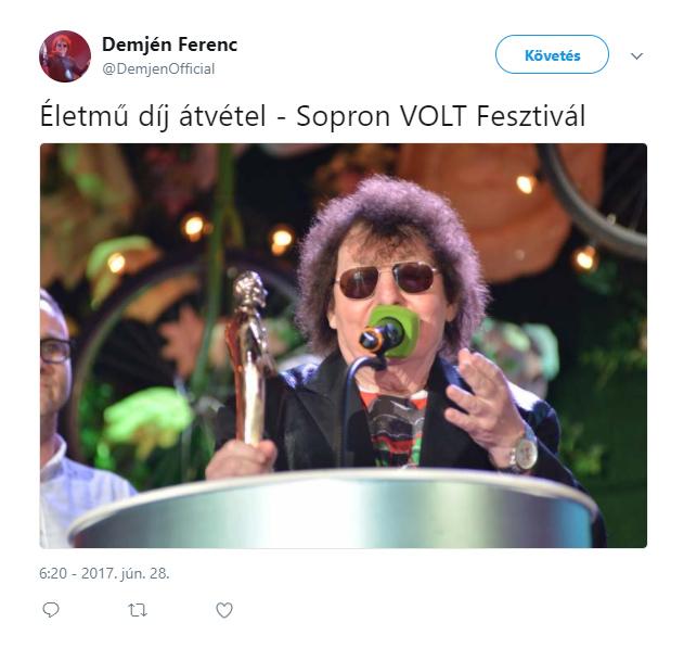 Életmű díj átvétel - Sopron VOLT Fesztivál